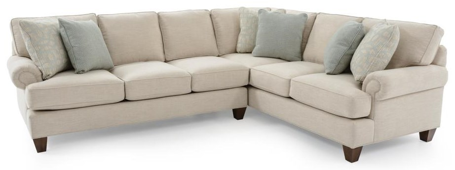 Two Piece Customizable Sectional Sofa with RAF Corner Sofa