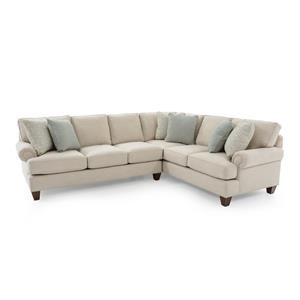 Two Piece Customizable Sectional Sofa with RAF Corner Sofa