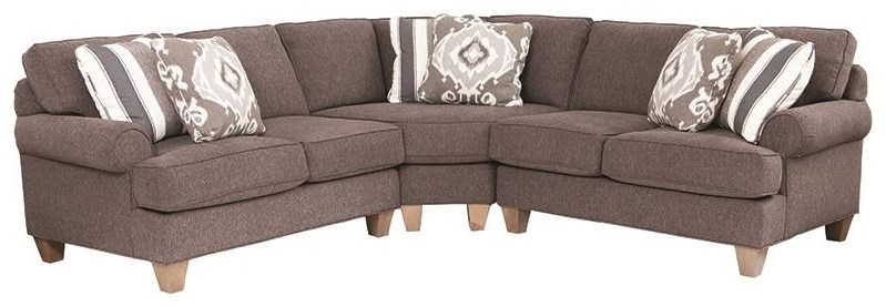 C9 Custom Collection 3 Piece Sectional by Craftmaster at Darvin Furniture