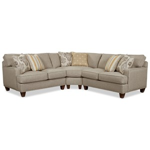 Customizable Three Piece Corner Sectional Sofa