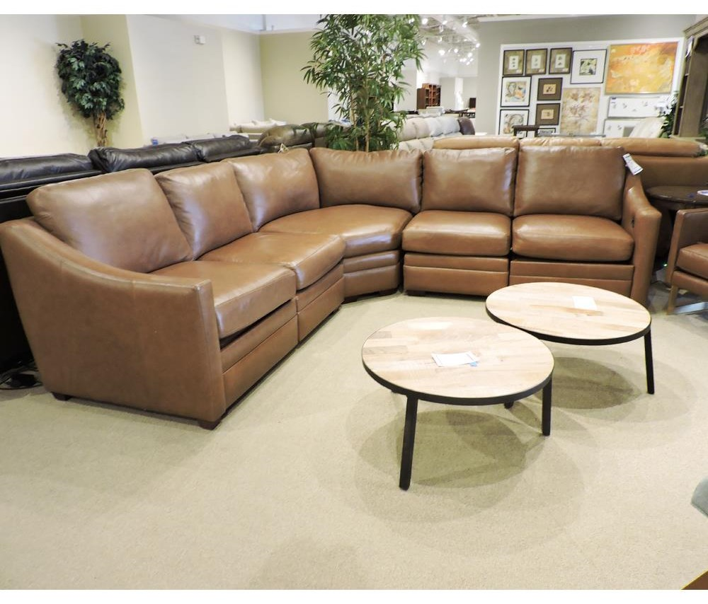 Clearance 3 Piece Leather Sectional by Craftmaster at Belfort Furniture