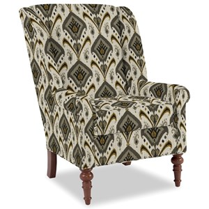 Traditional Chair with Modified Wing Back and Vintage Tack Nailheads