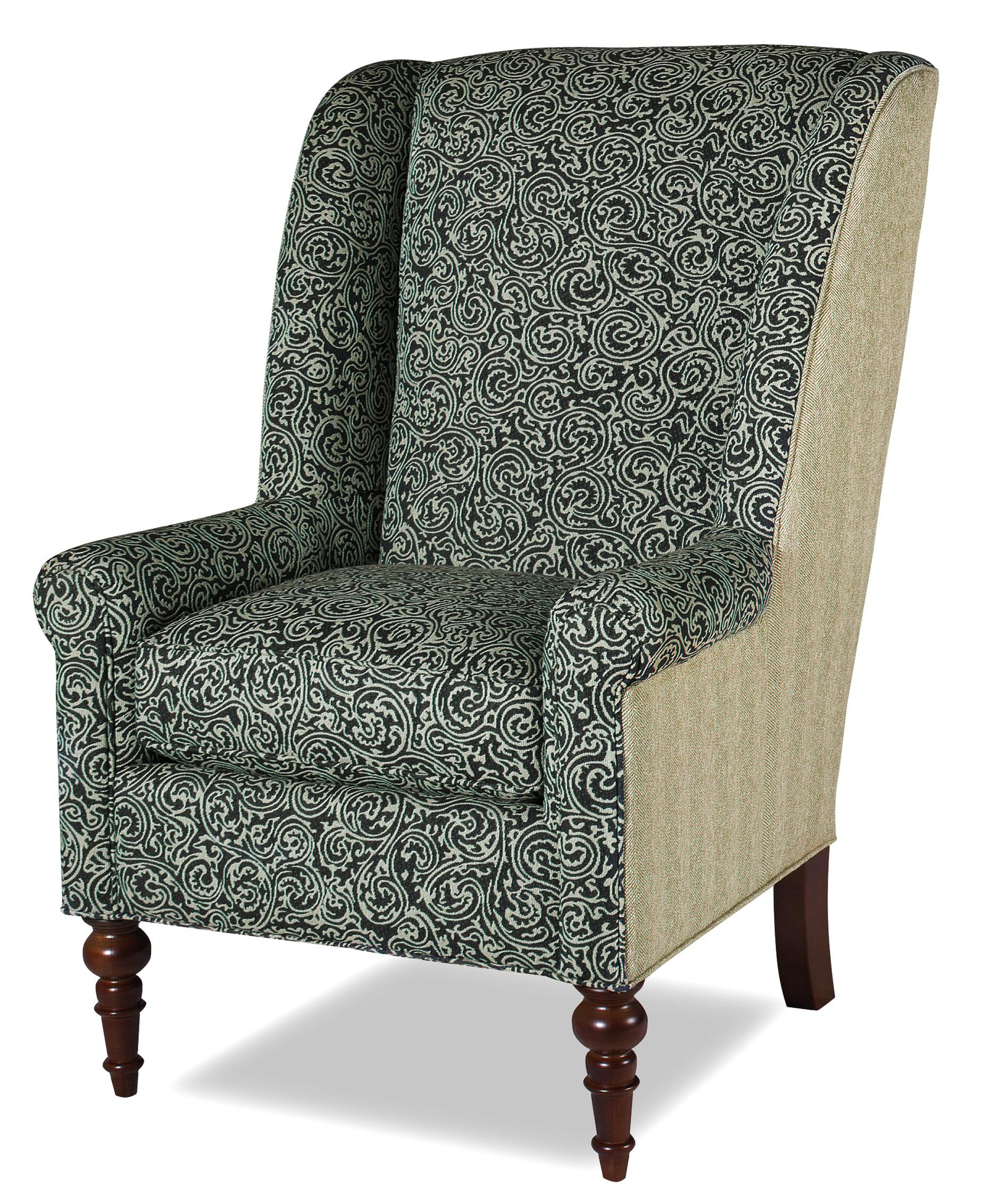 Accent Chairs Modified Wing Back Chair by Craftmaster at Baer's Furniture