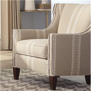 Transitional Wing Chair with Nailhead Trim