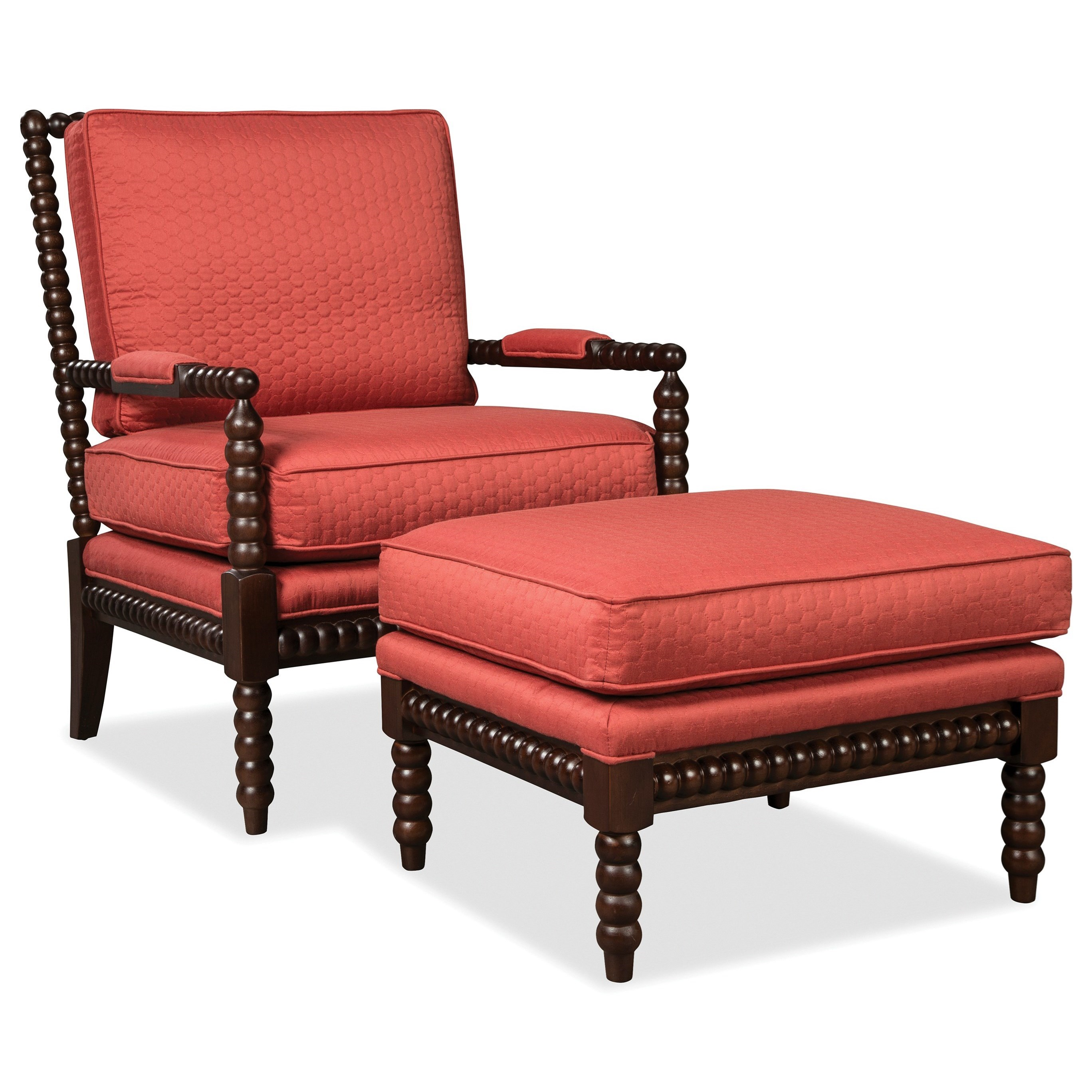 Accent Chairs Exposed Wood Chair by Craftmaster at Baer's Furniture