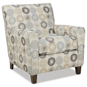 Contemporary Accent Chair with Track Arms