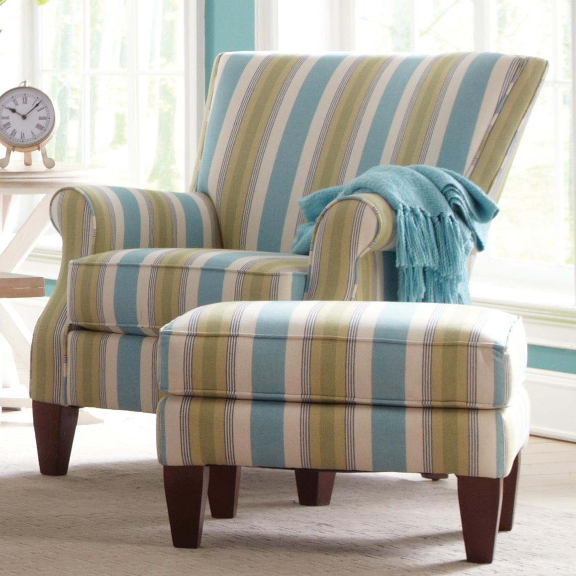Accent Chairs Chair and Ottoman Set by Craftmaster at Baer's Furniture