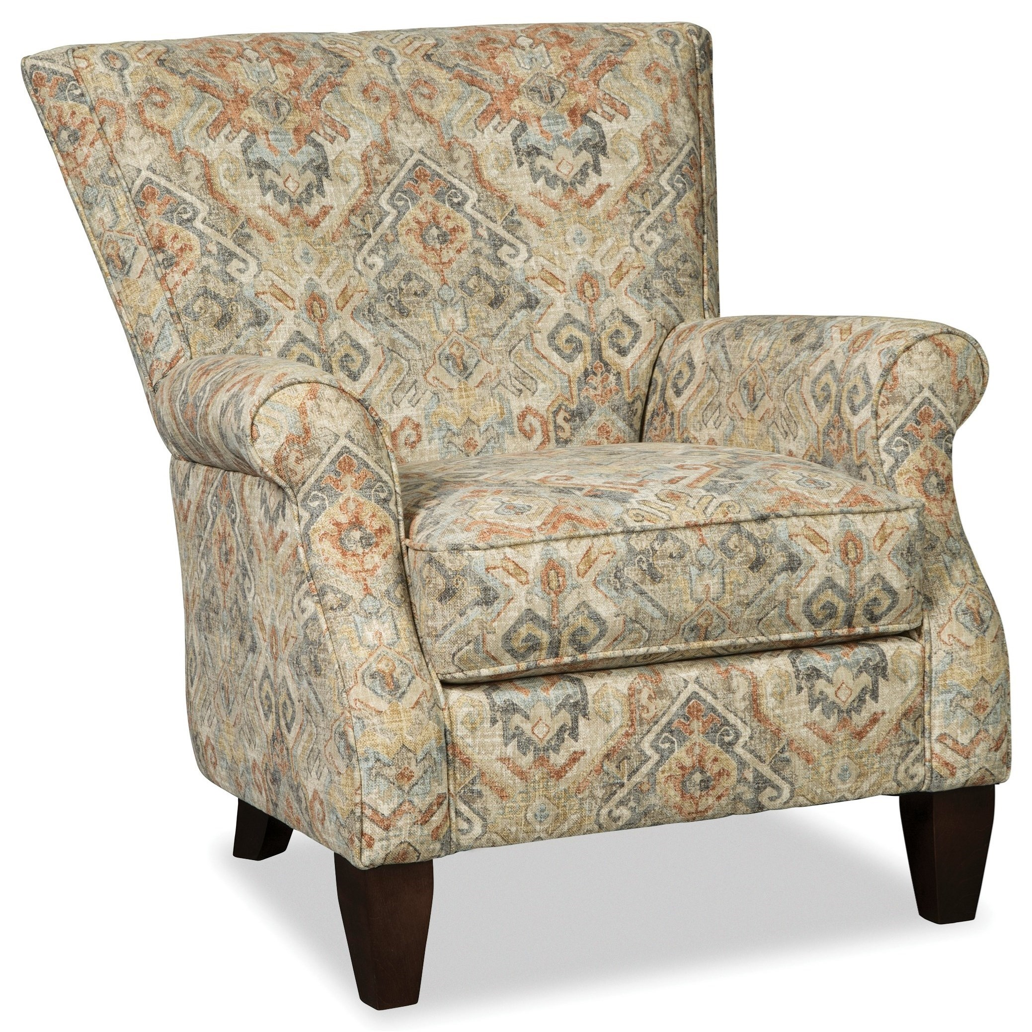 Accent Chairs Contemporary Upholstered Chair by Craftmaster at Zak's Home
