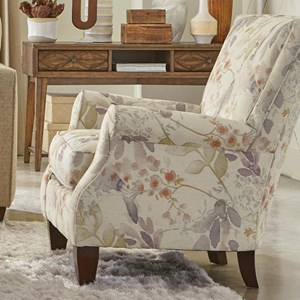 Contemporary Upholstered Chair with Rolled Arms