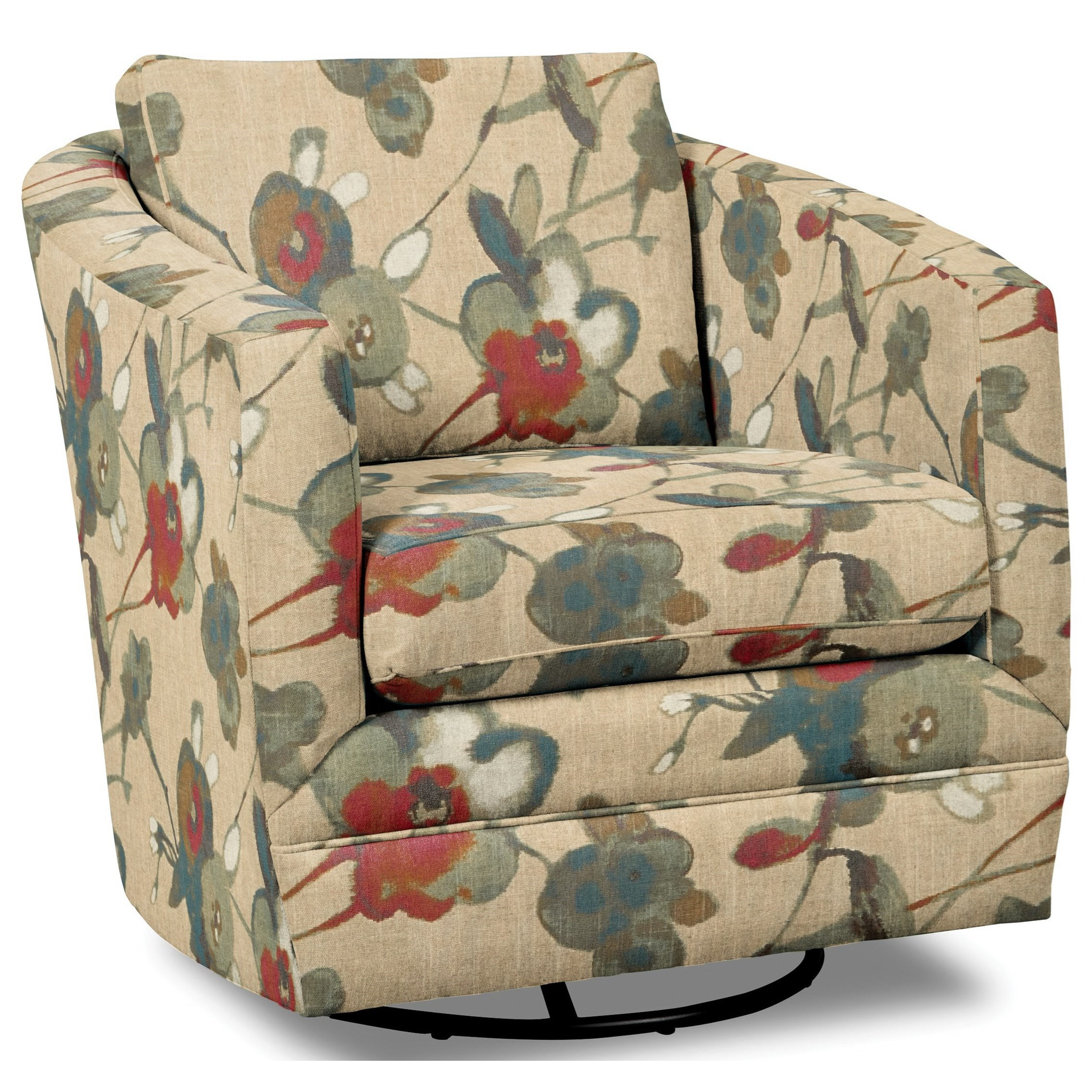 Accent Chairs Swivel Chair by Hickorycraft at Johnny Janosik