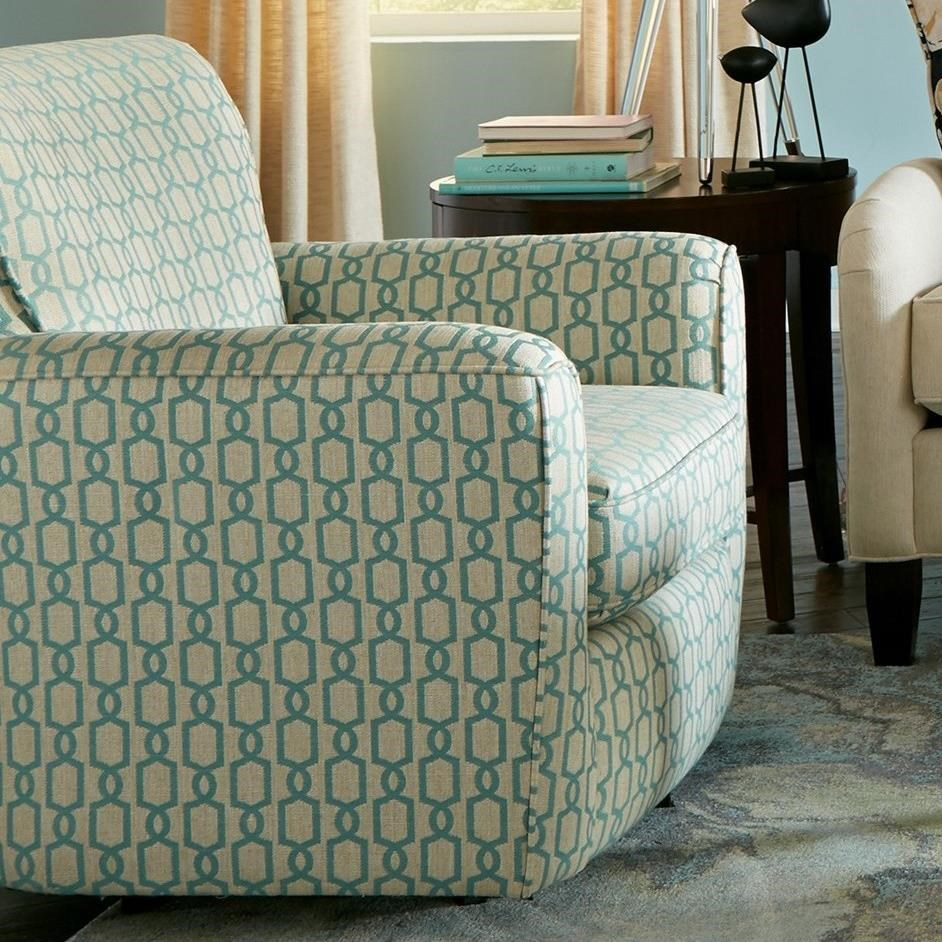 Accent Chairs Upholstered Swivel Chair with Flared Arms by Craftmaster at Baer's Furniture