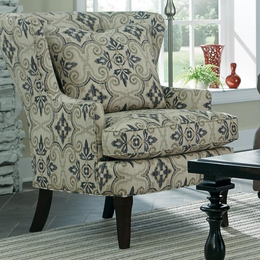 Accent Chairs Traditional Upholstered Wing Chair by Craftmaster at Baer's Furniture