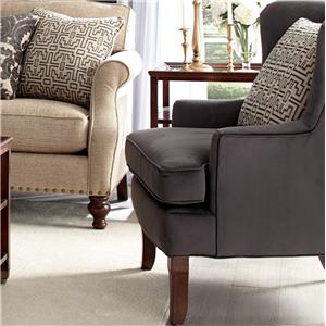 Craftmaster Accent Chairs Traditional Upholstered Wing Chair