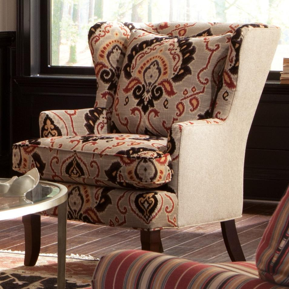 Accent Chairs Traditional Upholstered Wing Chair by Craftmaster at Suburban Furniture