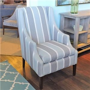 Transitional Chair with Scalloped Arms