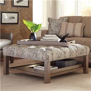 Cozy Life Accent Ottomans Ottoman with Storage Trays