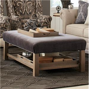Craftmaster Accent Ottomans Storage Bench Ottoman with Tray Storage