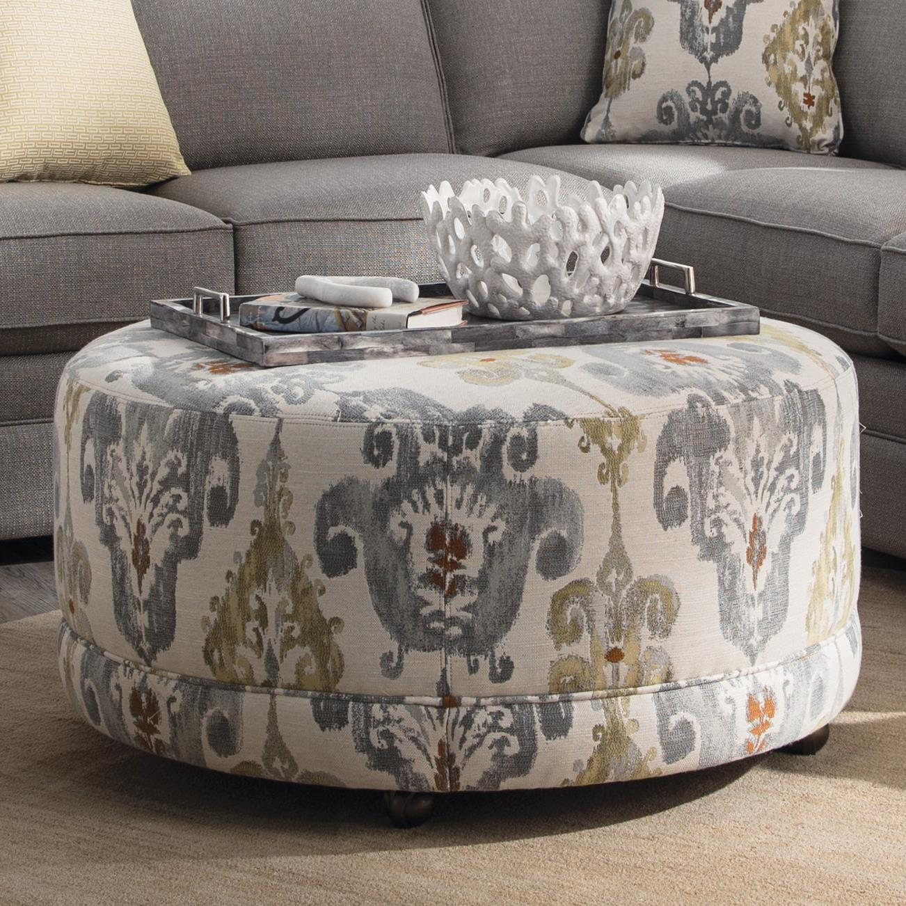 Accent Ottomans Round Contemporary Ottoman by Craftmaster at Jacksonville Furniture Mart