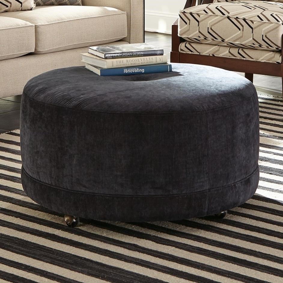 Accent Ottomans Round Contemporary Ottoman by Craftmaster at Home Collections Furniture
