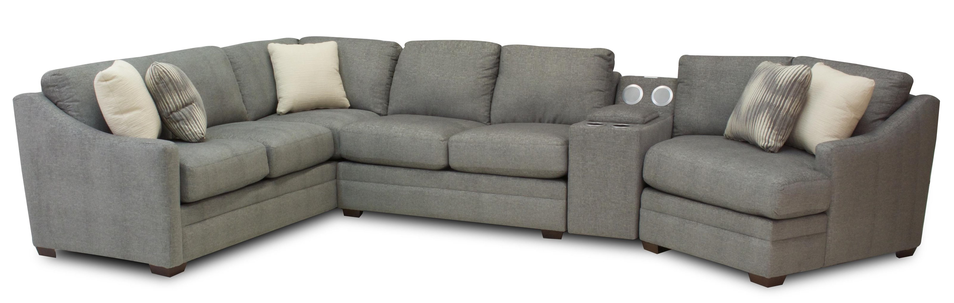 Austin 4-Piece Sectional by Hickory Craft at Ruby Gordon Home