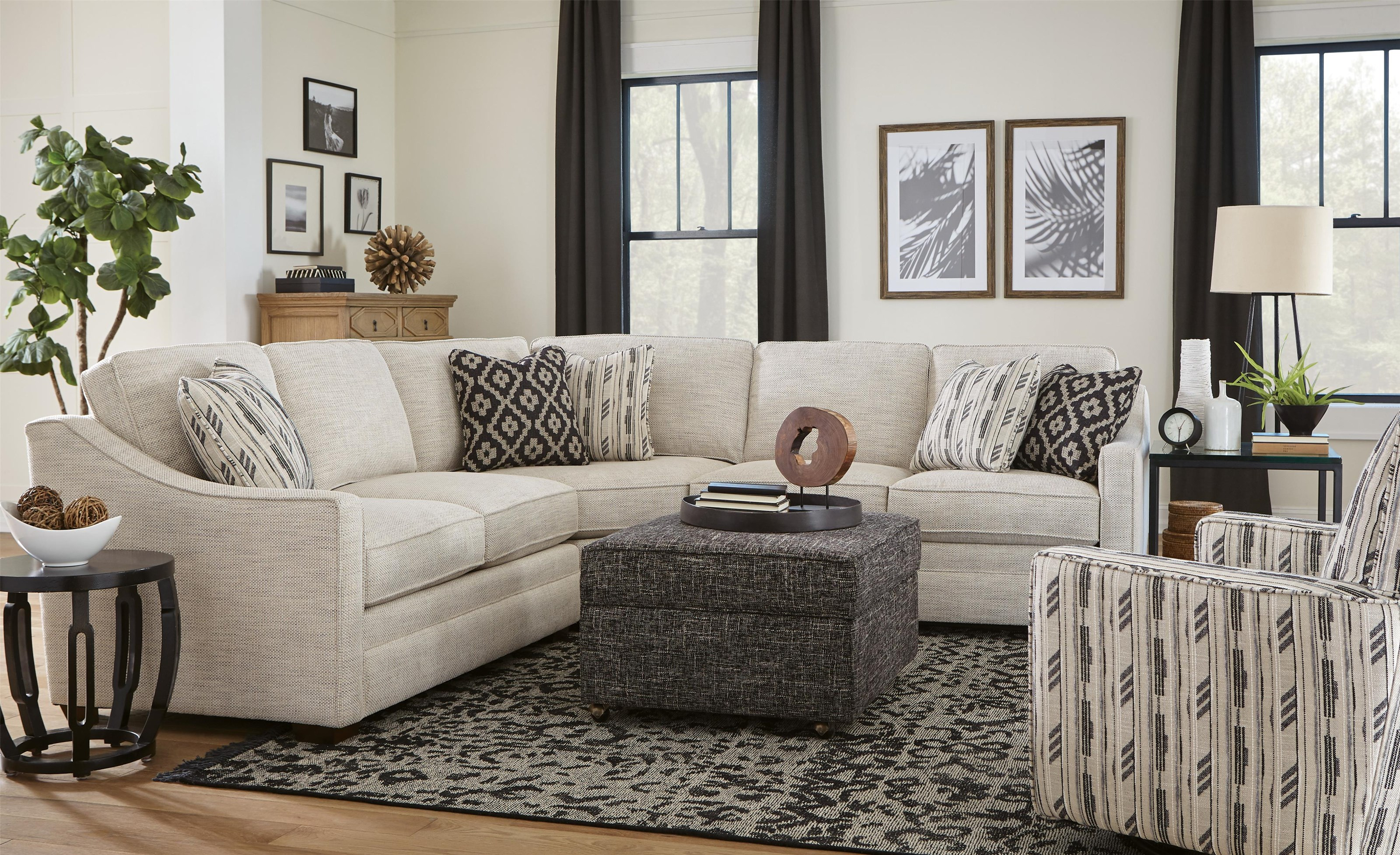 Austin 3-Piece Sectional by Hickory Craft at Ruby Gordon Home