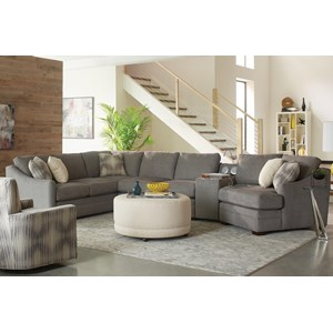 4 pc Sectional Sofa w/ Power Console