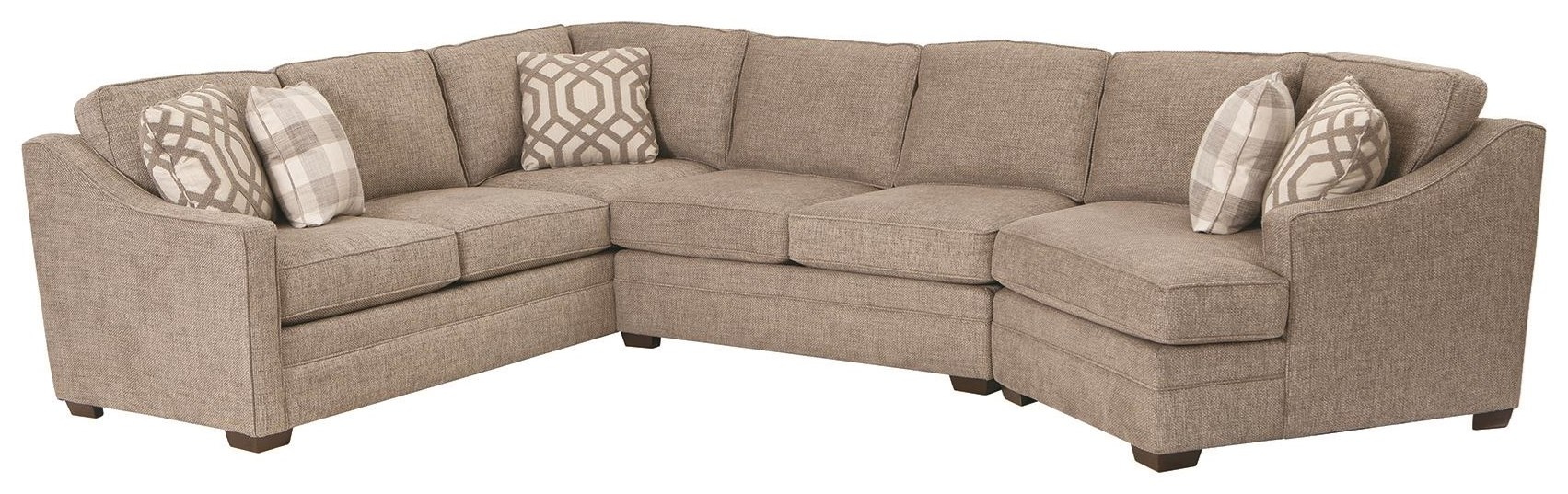 F9 Custom Collection 3 Piece Sectional by Craftmaster at Darvin Furniture