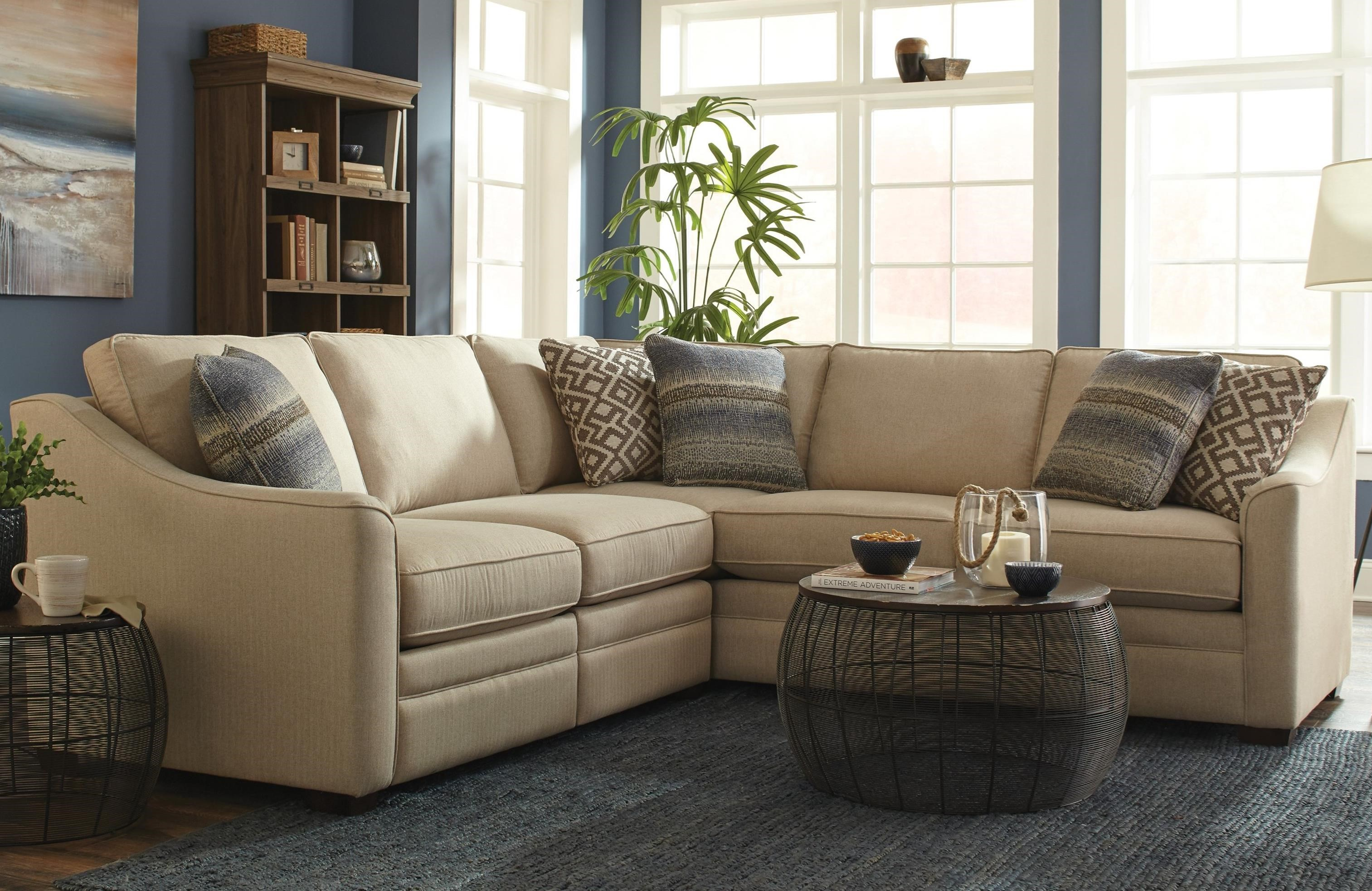 F9 Custom Collection Custom 2 Pc Sectional w/ Recliners by Craftmaster at Esprit Decor Home Furnishings