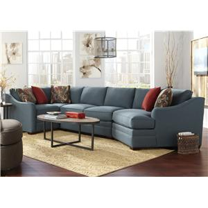 Craftmaster F9 Custom Collection 4 Pc Custom Built Sectional