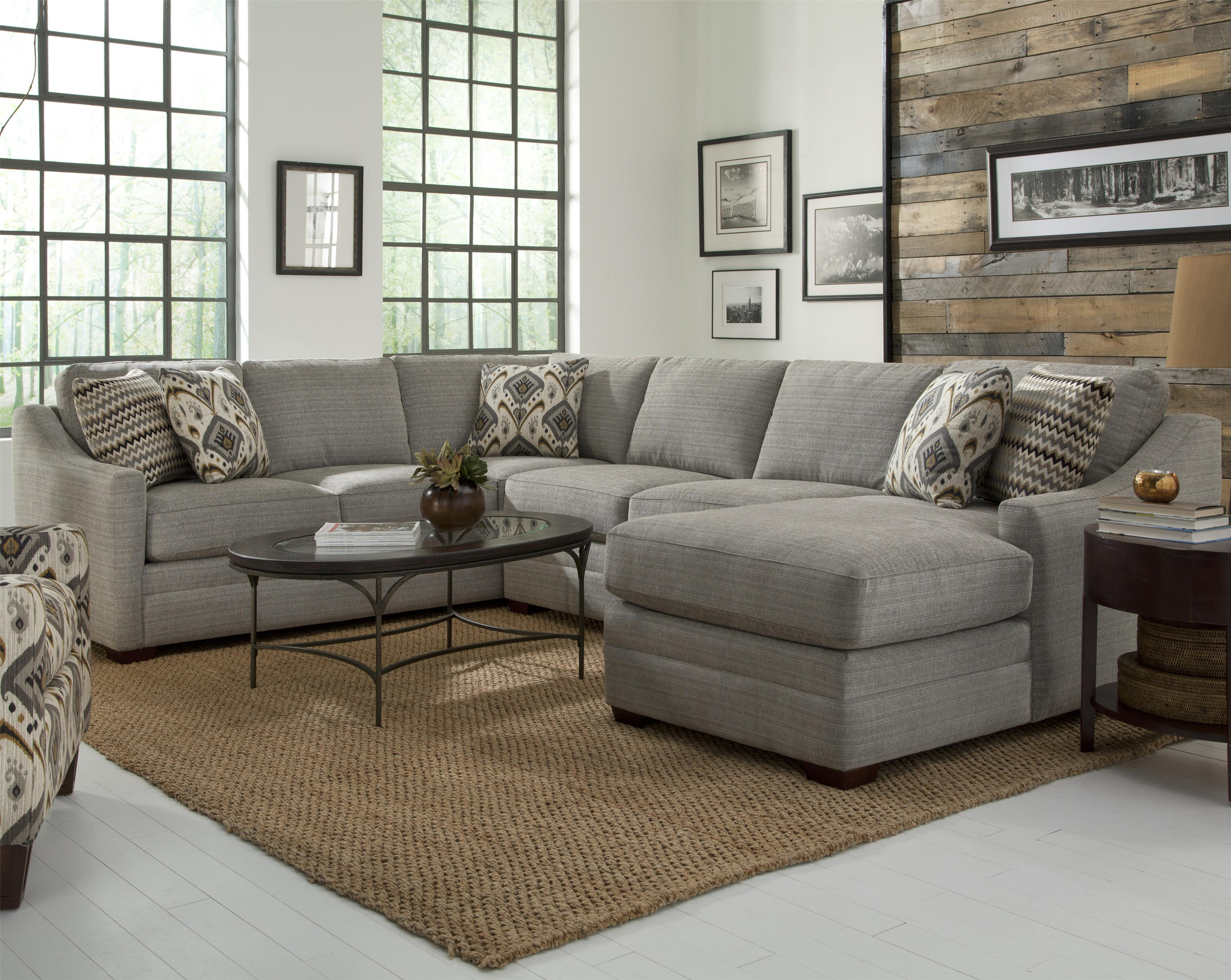 F9 Custom Collection Customizable 4 Pc Sectional Sofa by Craftmaster at Thornton Furniture