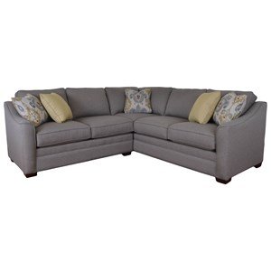 Two Piece Customizable Corner Sectional Sofa with Left Return
