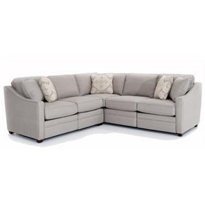 Customizable 2 Piece Sectional with 2 Power Reclining Chairs