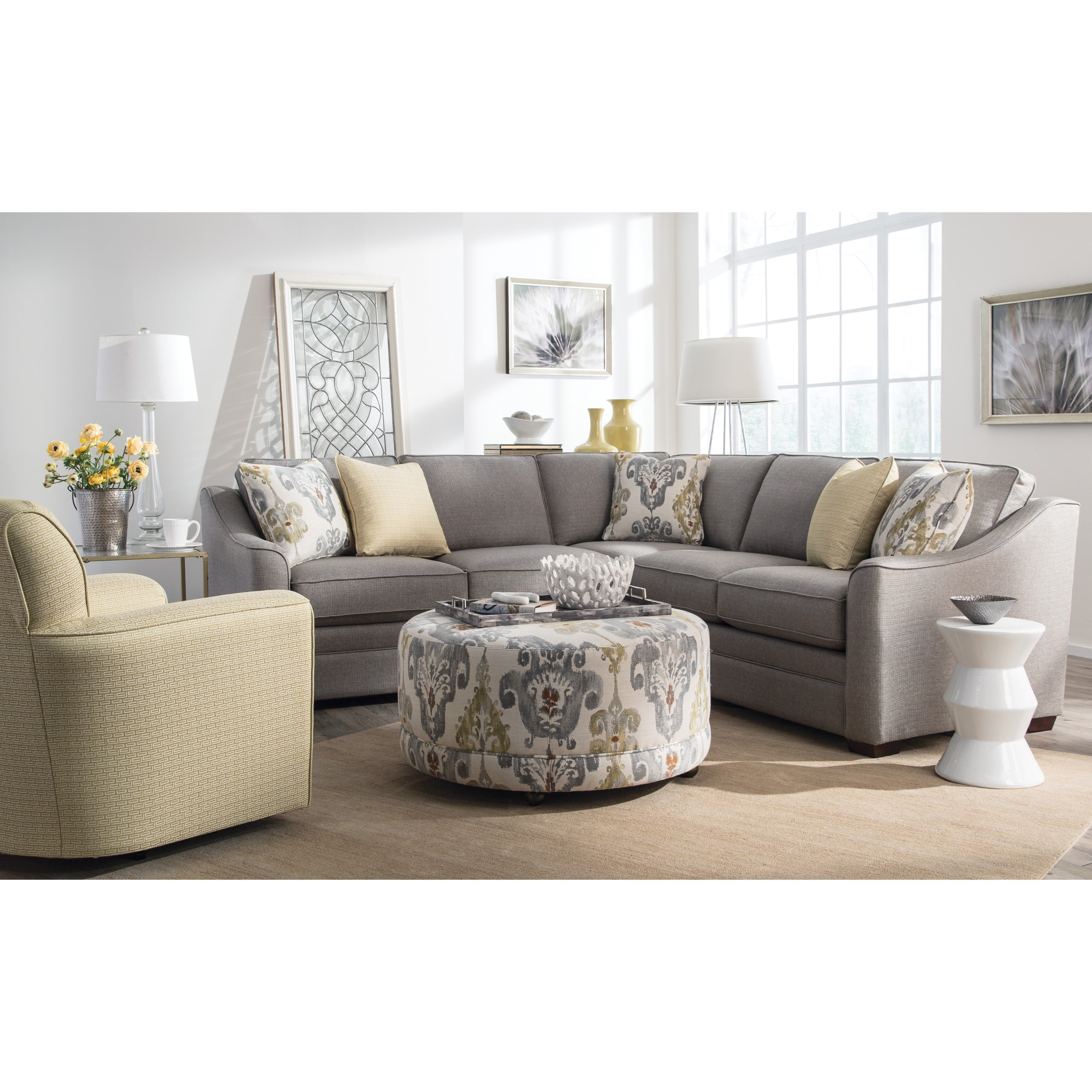 F9 Custom Collection Living Room Group by Craftmaster at Goods Furniture