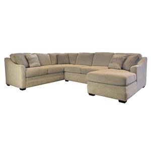 Customizable 3-Piece Sectional with LAF Sofa w/ Return