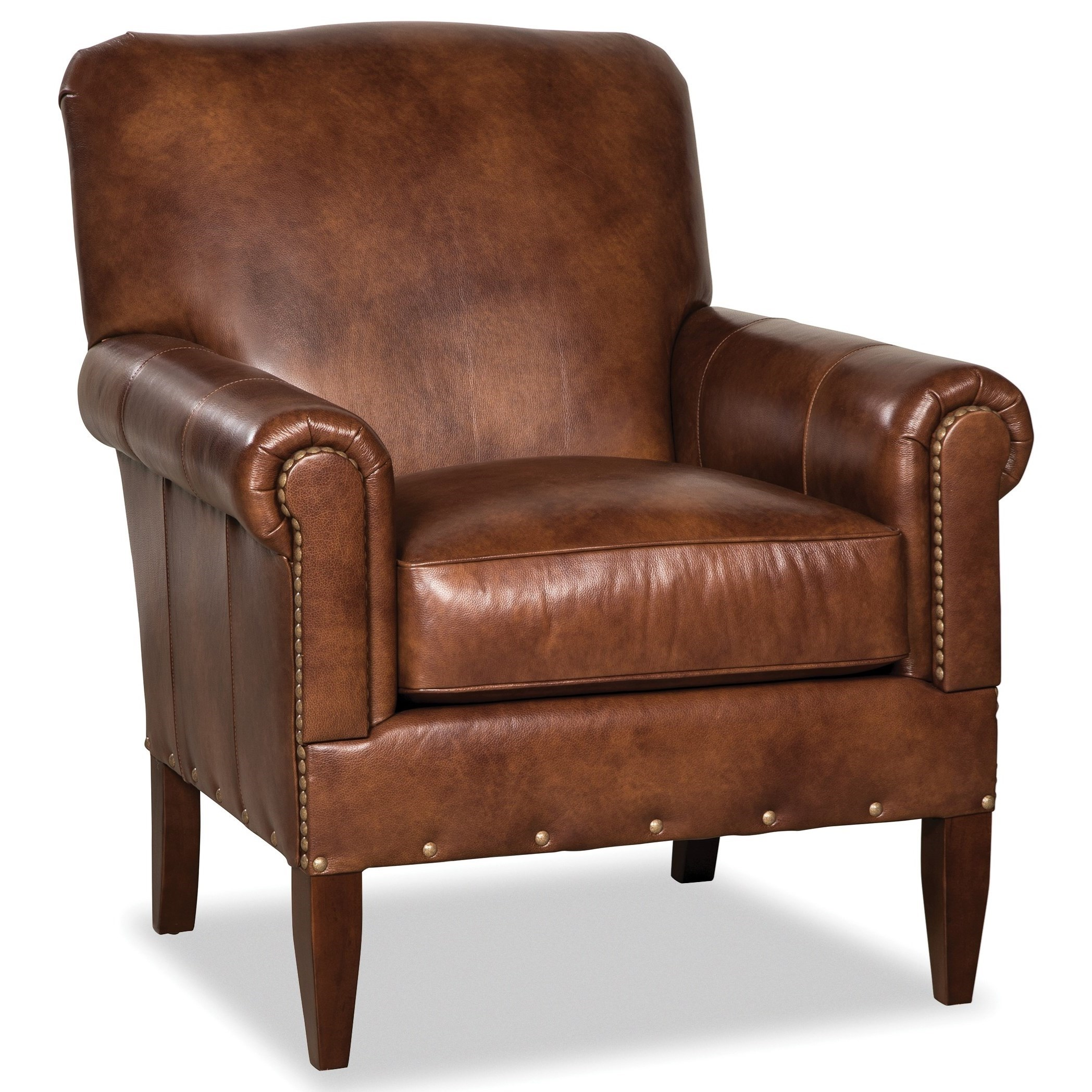 L042410BD Leather Chair by Craftmaster at VanDrie Home Furnishings