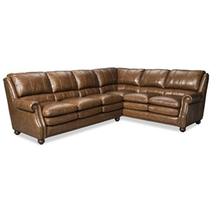 Two Piece Leather Sectional Sofa