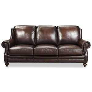 Craftmaster Traditonal Leather Sofa