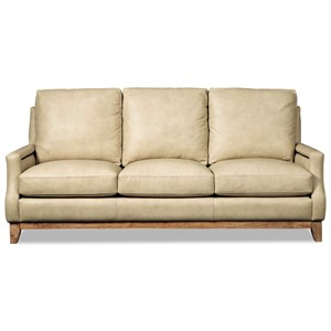 Transitional Nailhead-Studded Sofa with Exposed Base Rail