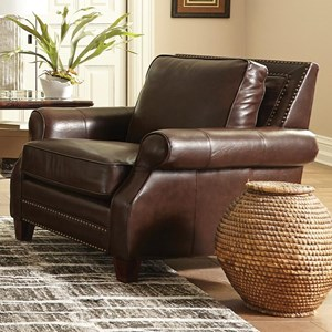Transitional Chair with Nailhead Studs