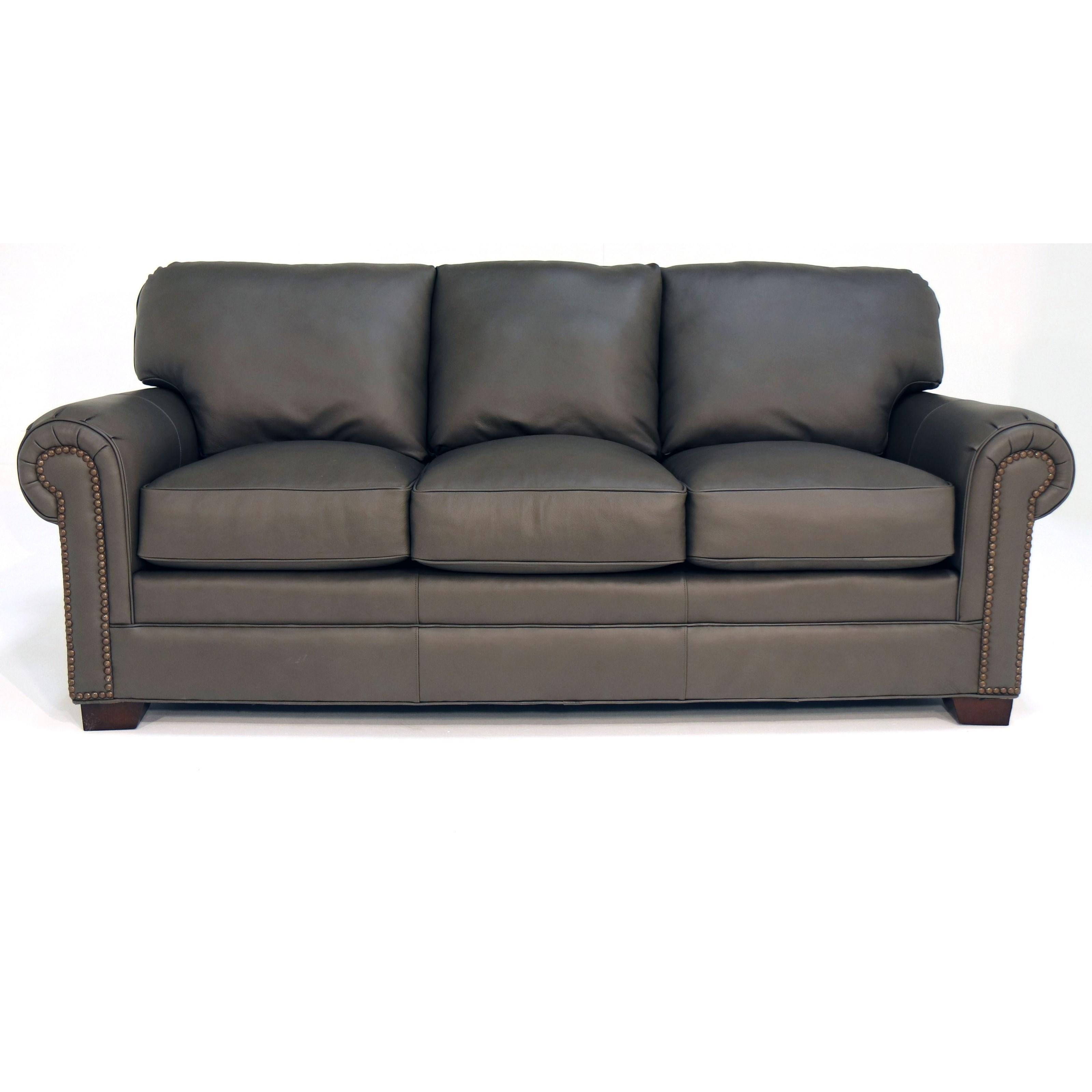 L756550 Sofa w/ Nailheads by Craftmaster at Baer's Furniture