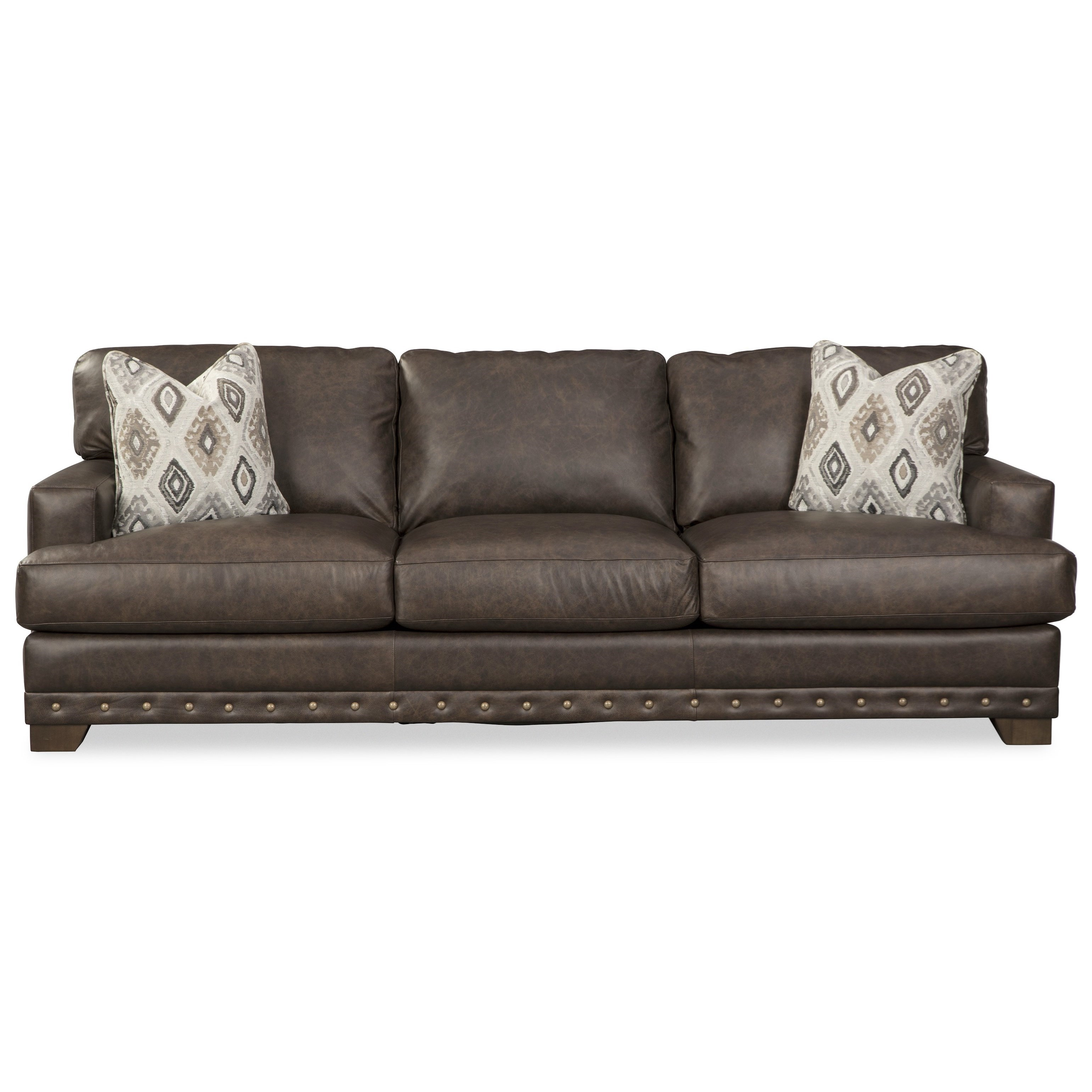 L782750 Sofa w/ Nailheads & Pillows by Craftmaster at Baer's Furniture