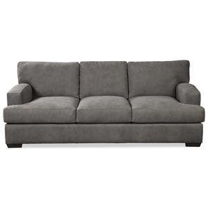 Casual Contemporary Sofa with Track Arms