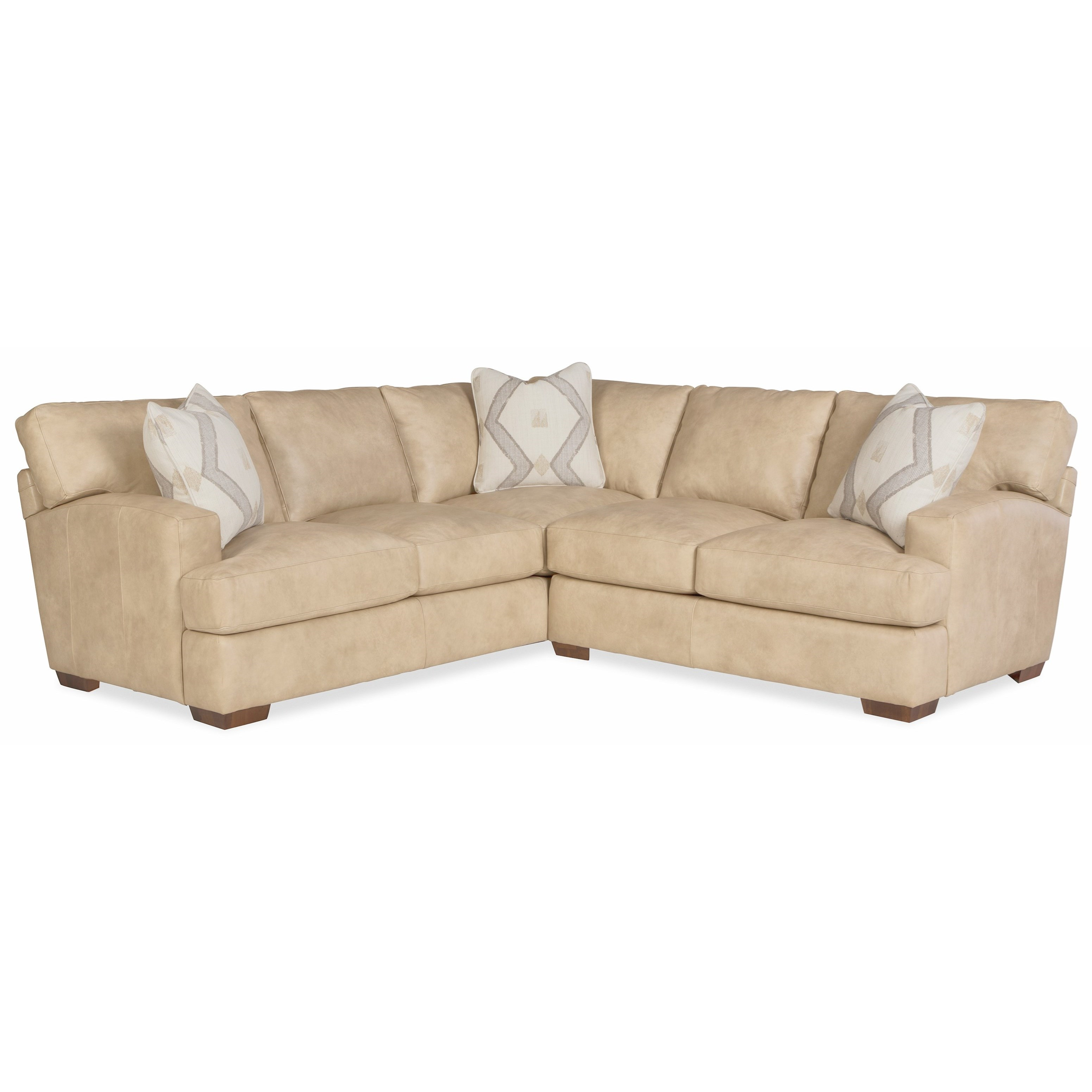 L785350BD 2-Piece Leather Sectional w/ Pillows by Craftmaster at Bullard Furniture