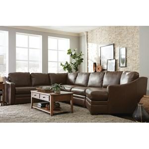 Custom 3 Pc Sectional Sofa w/ Power Recliner