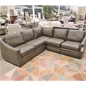 Leather Sectional w/ Power