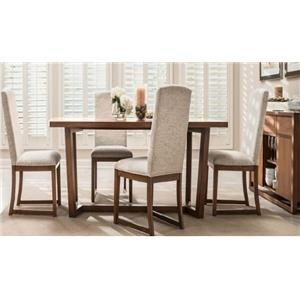 5 Piece Rectangular Dining Set includes Table and 4 Chairs