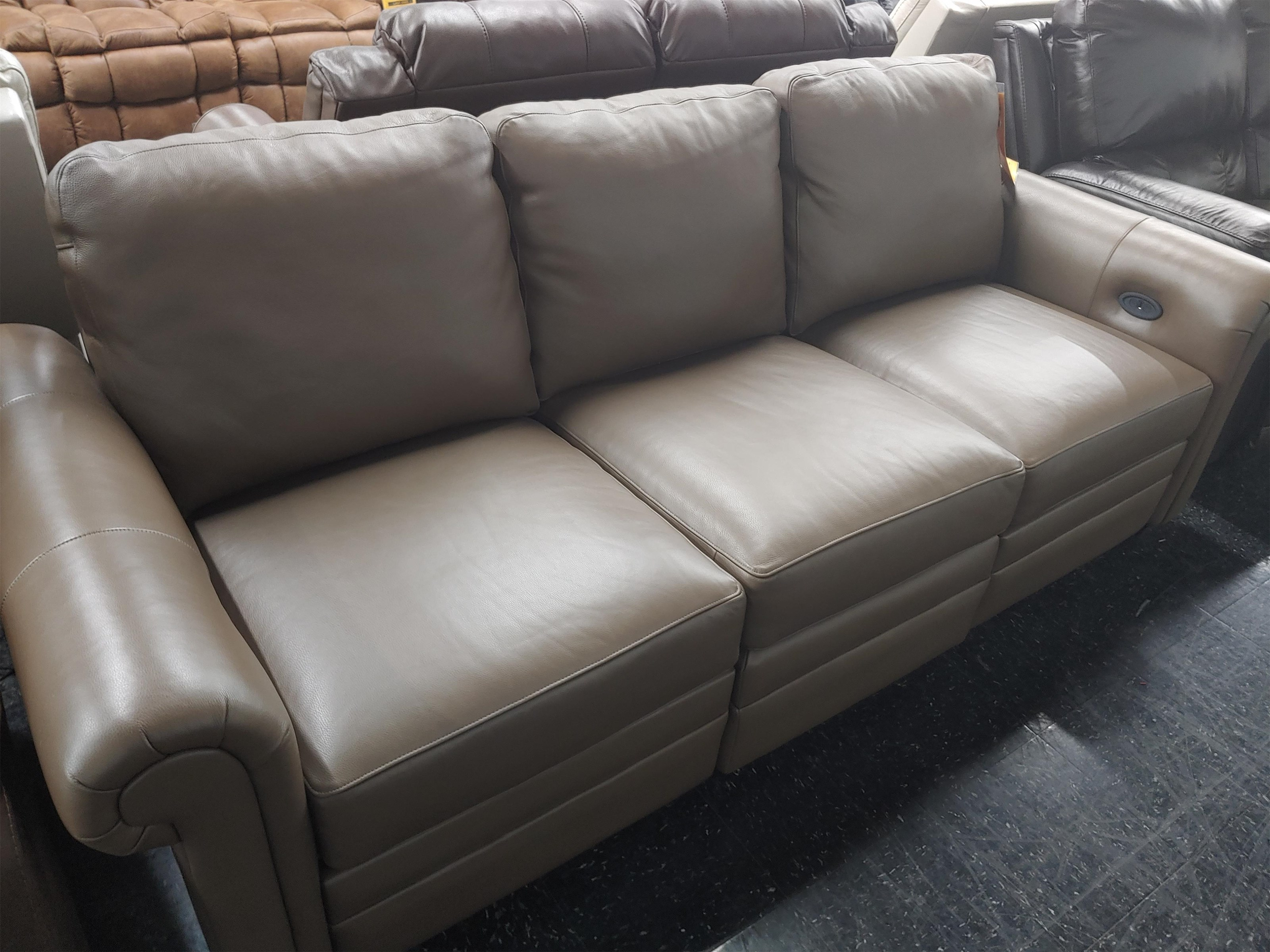 Last One Sofa Last One! Leather Match Power Sofa! by Craftmaster at Morris Home