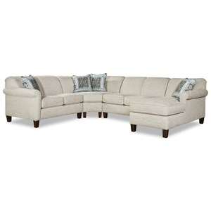 5-Seat Sectional Sofa w/ RAF Chaise Lounge