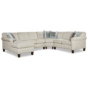 5-Seat Sectional Sofa w/ LAF Chaise Lounge