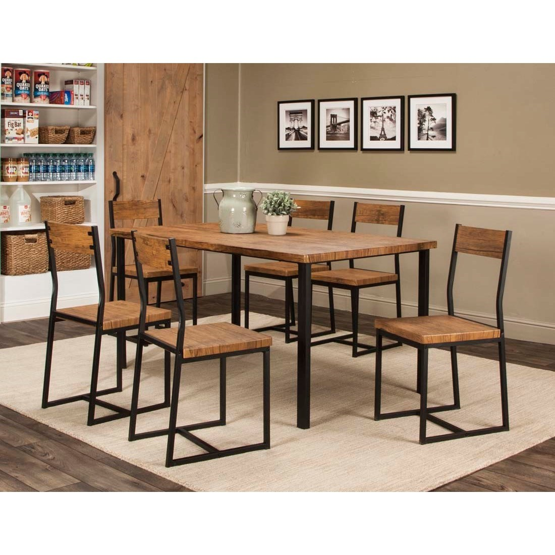 Adler 7-Piece Table and Chair Set by Cramco, Inc at Lapeer Furniture & Mattress Center